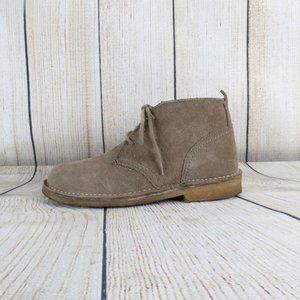 LL Bean Suede Lace Up Ankle Chukka Boots